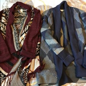 Two Nordstrom blanket sweaters